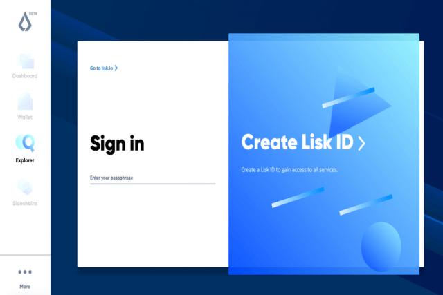 Lisk Hub web wallet